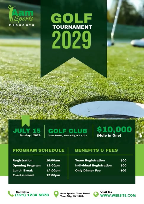 Golf Tournament Flyer A4 template