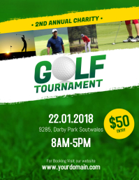Golf Tournament Flyer Poster Template