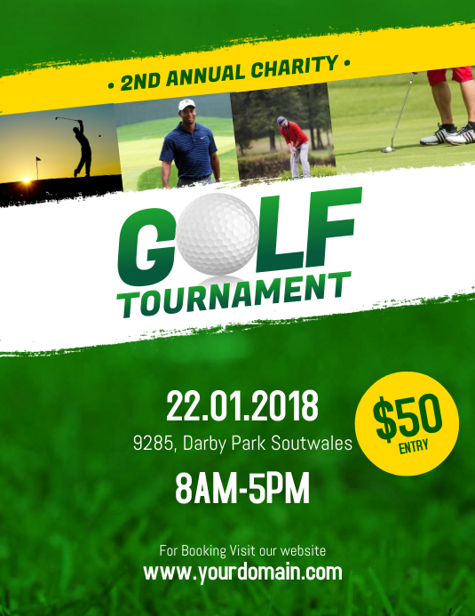 Golf Tournament Flyer Poster Template