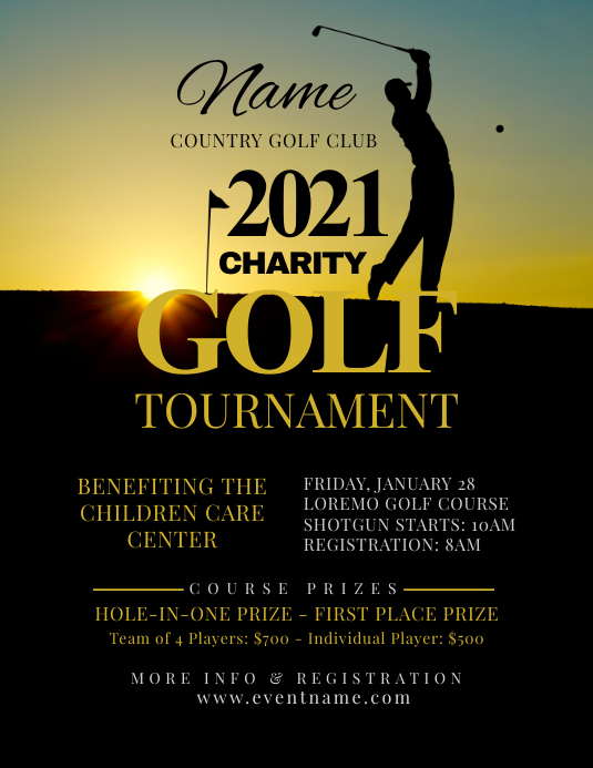 Golf Tournament Flyer Template Postermywall