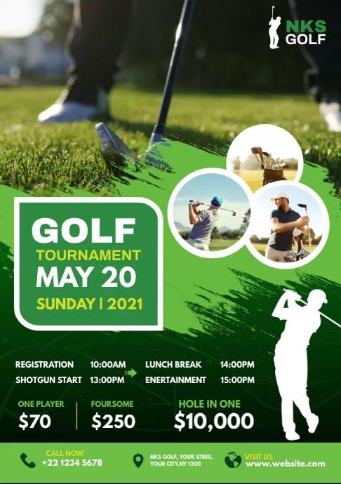 Golf Tournament Flyer Template A4