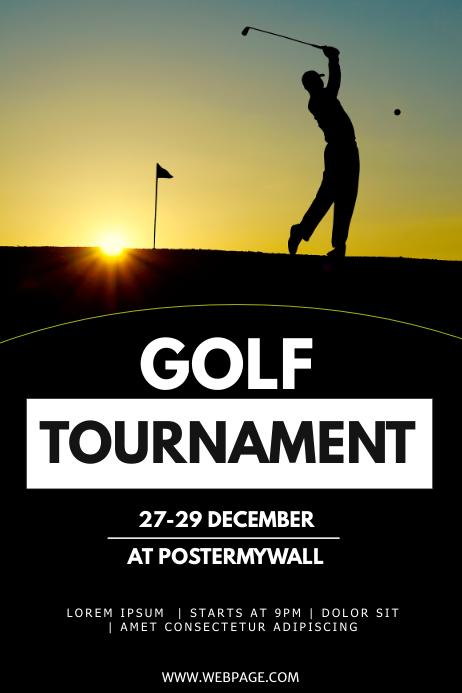 Golf tournament flyer template Poster