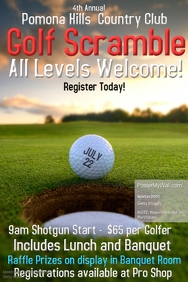 Golf Tournament Poster · Golf Poster Template · Golf Flyer