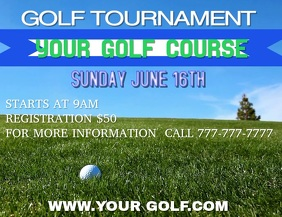 GOLF TOURNAMENT GOLF GOLF VIDEO Flyer (Letter pang-US) template
