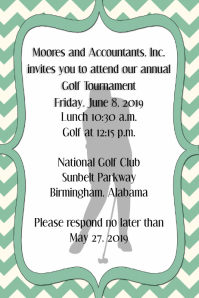 Golf Tournament Invitation Corporate Announcement Poster template