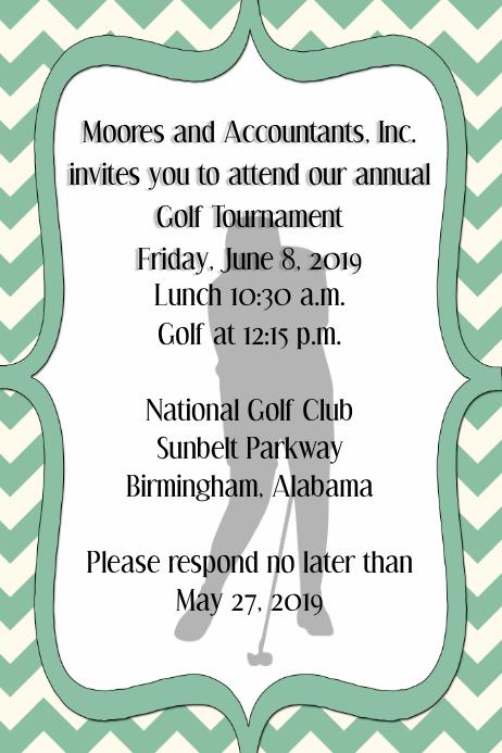 copy of golf tournament invitation corporate announcement