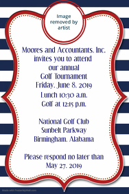 Golf Tournament Invitation Corporate Announcement Poster