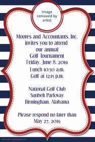Golf Tournament Invitation Corporate Announcement Poster