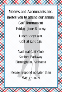 Golf Tournament Invitation Corporate Law Office Flyer Poster template