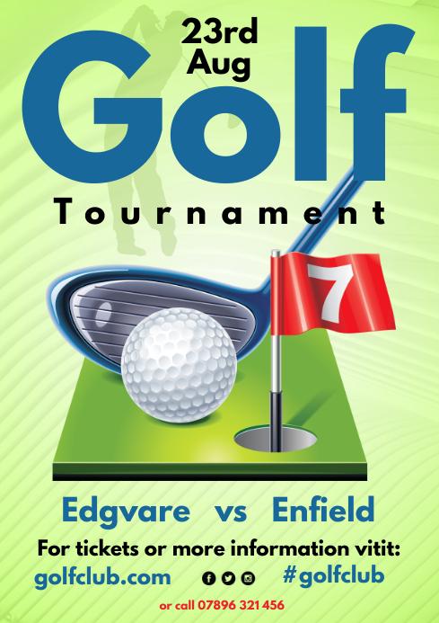 Golf Tournament Poster A4 template