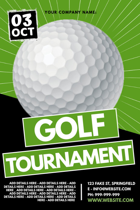 Golf Tournament Poster Plakat template