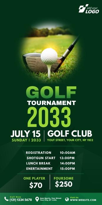 Golf Tournament Roll-Up Banner template