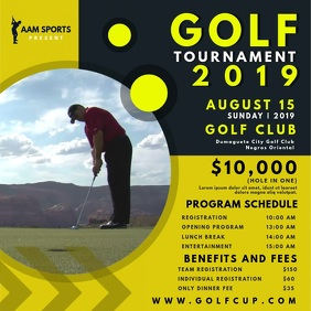Golf Tournament Schedule Video