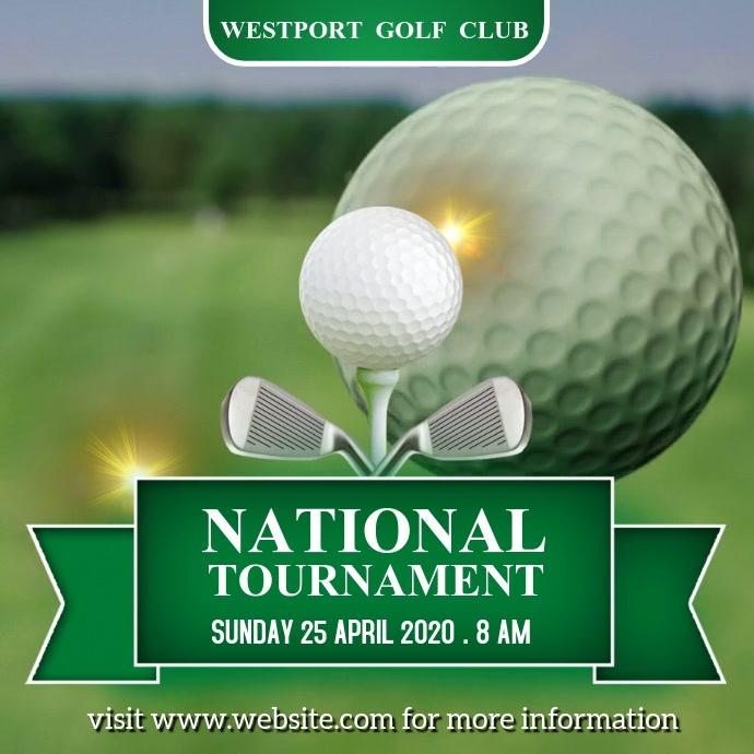 Golf Tournament Template Pos Instagram