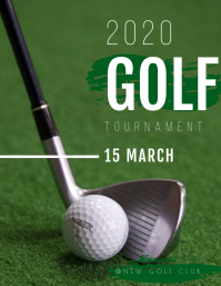 GOLF TOURNAMENT TEMPLATE Ulotka (US Letter)