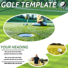 GOLFING AD DIGITAL VIDEO SOCIAL MEDIA Instagram Post template