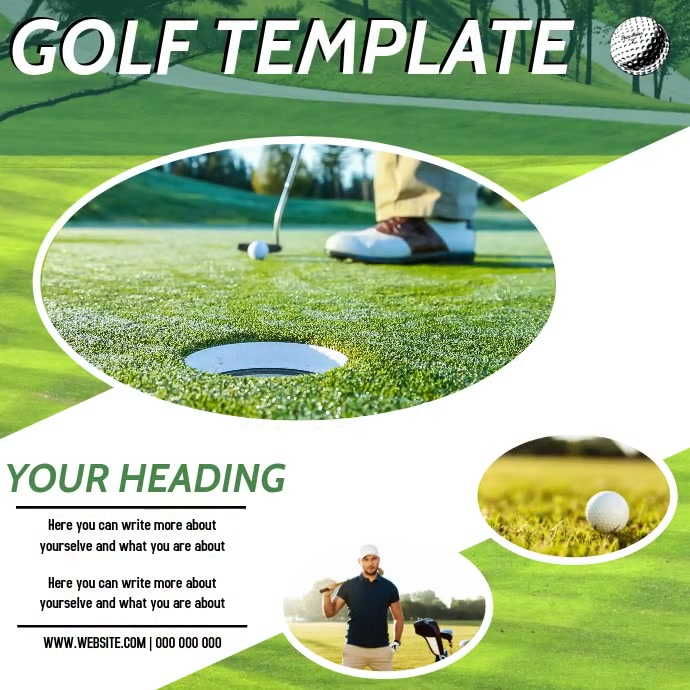 GOLFING AD DIGITAL VIDEO SOCIAL MEDIA Instagram-opslag template