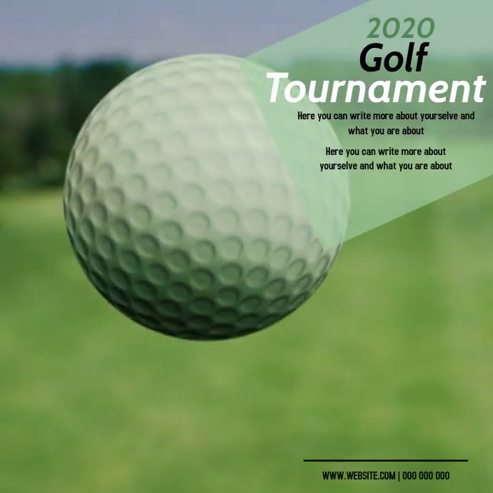 golfing AD DIGITAL VIDEO SOCIAL MEDIA โพสต์บน Instagram template