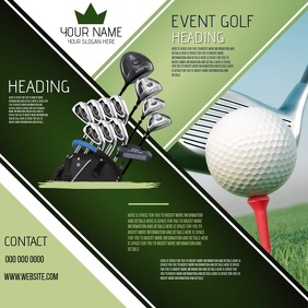 GOLFING EVENT AD DIGITAL VIDEO SOCIAL MEDIA Square (1:1) template