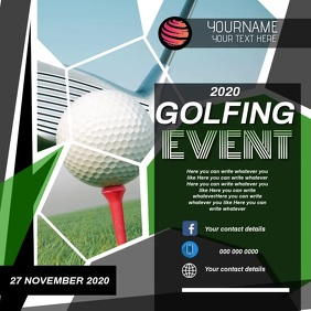 GOLFING EVENT AD SOCIAL MEDIA DIGITAL VIDEO Square (1:1) template