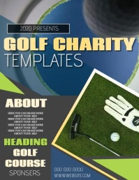 GOLFING EVENT FLYER POSTER TEMPLATE