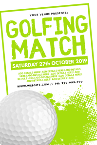 Golfing Match Poster