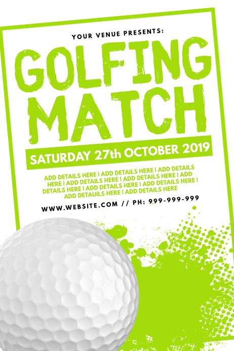 Golfing Match Poster Plakat template