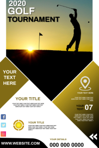 GOLFING POSTER TEMPLATE