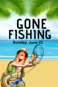Gone Fishing Flyer