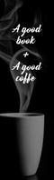 good book + book coffee bookmark