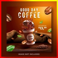 good coffe day flyer template Logo