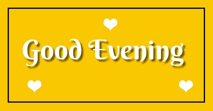 Good Evening Gambar Bersama Facebook template