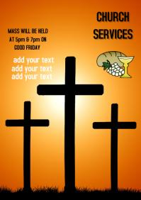 Good Friday Church Celebration Flyer