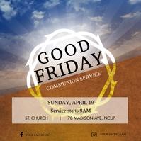 Good Friday Church Communian Instagram Post T template