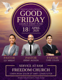 Good Friday Church Event Flyer