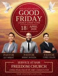 Good Friday Church Event Flyer