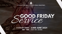GOOD FRIDAY church flyer Digitale Vertoning (16:9) template