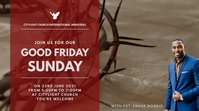 GOOD FRIDAY church flyer Цифровой дисплей (16 : 9) template