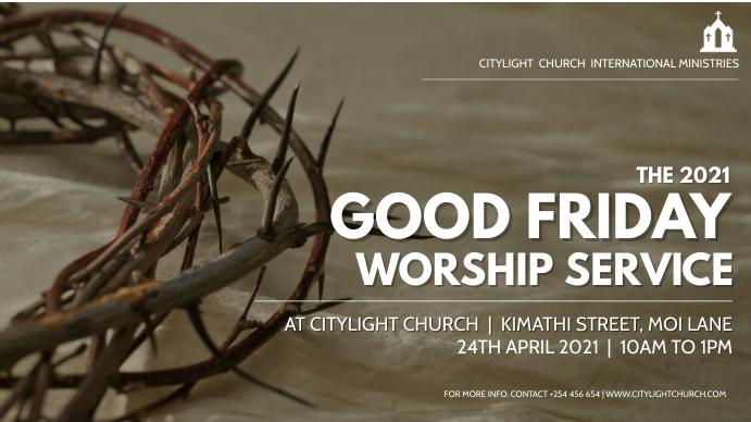 good friday church flyer Ecrã digital (16:9) template