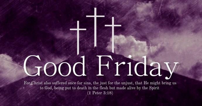 Good Friday Immagine condivisa di Facebook template