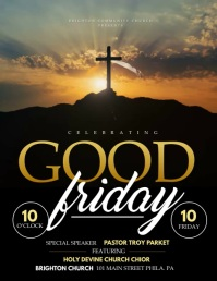 Good friday Pamflet (VSA Brief) template
