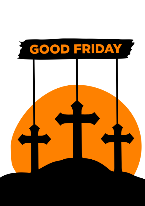 Good Friday A4 template
