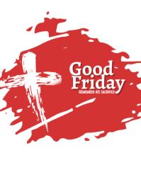 Good Friday Folheto (US Letter) template
