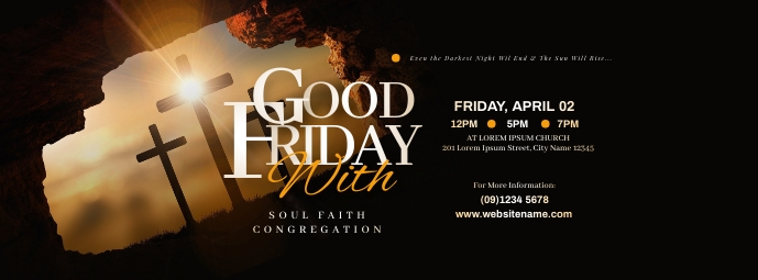 Good Friday Facebook Cover Photo template