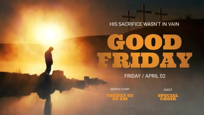 Good Friday Facebook Video Facebook-covervideo (16:9) template