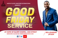 Good Friday flyer Label template