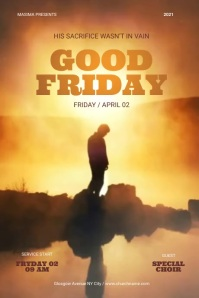 Good Friday Flyer Poster template