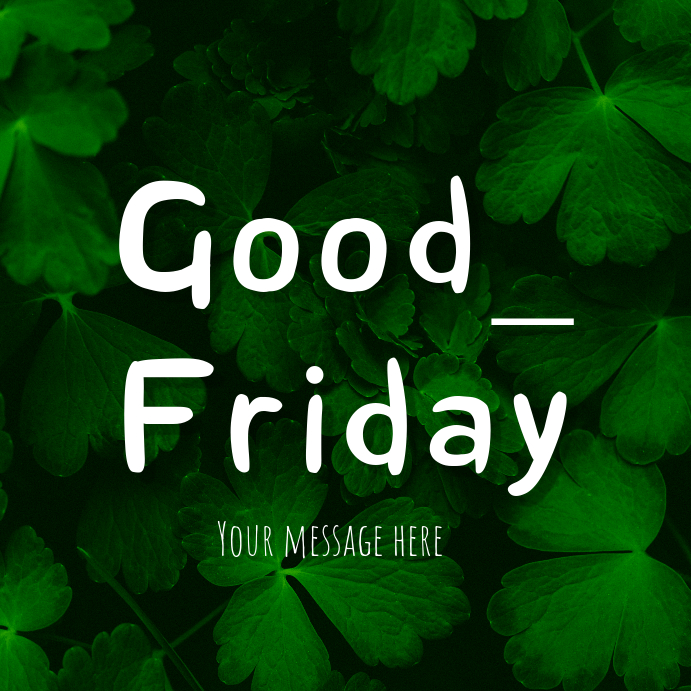 good friday instgram template