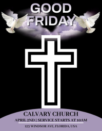 Good Friday Service Ulotka (US Letter) template