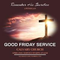 Good Friday Service Instagram 帖子 template
